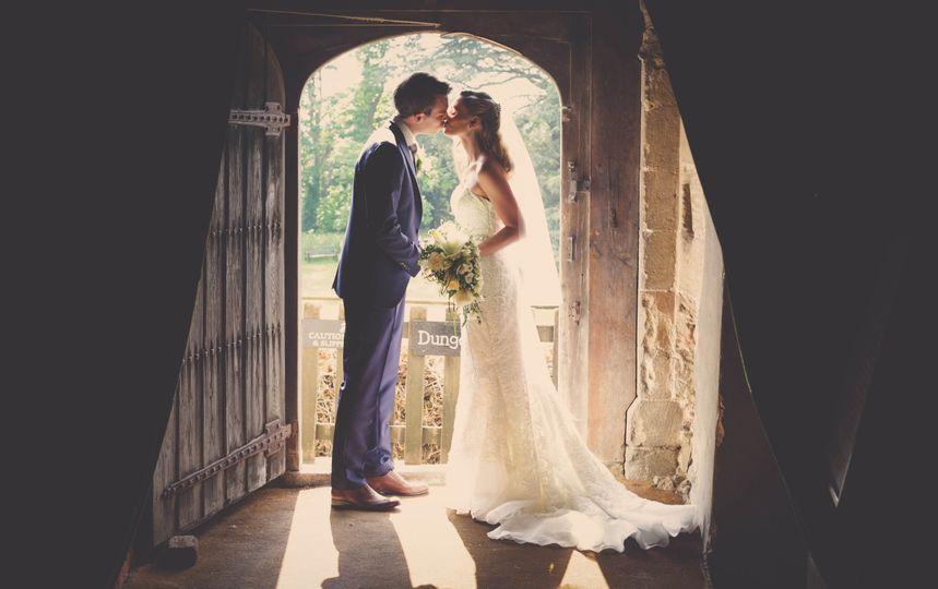 Hedingham Castle wedding photo