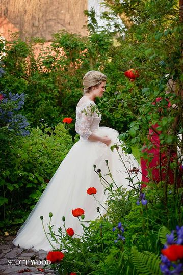 Beautiful Bride with Poppies