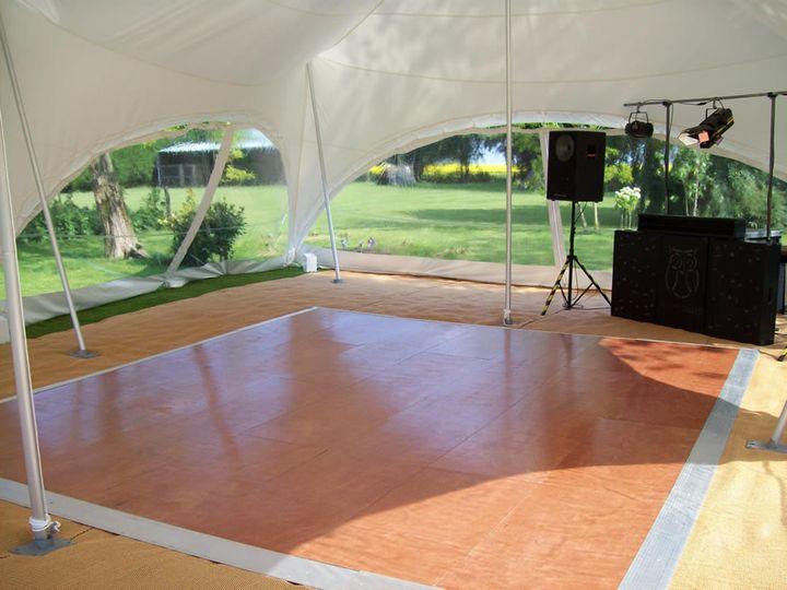 Wedding marquee dance floor