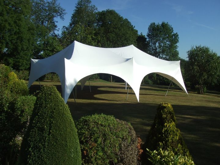 Large marquee on the lawn