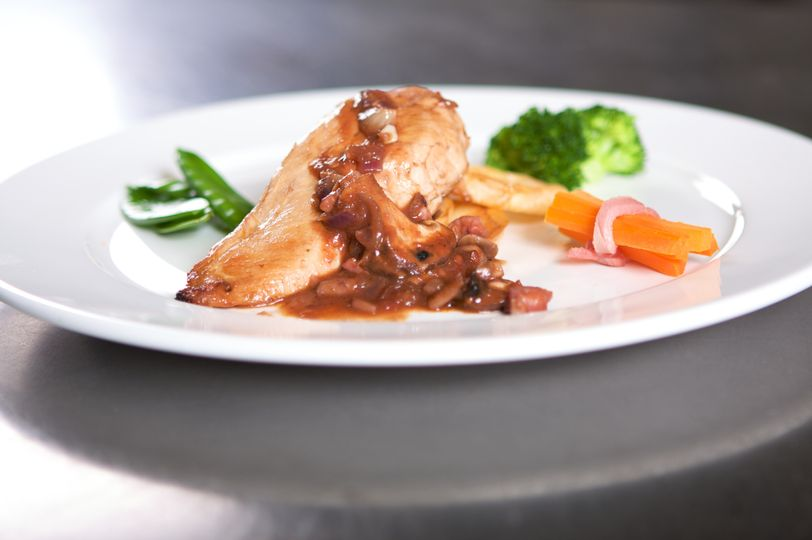 Chicken Braised in Red Wine