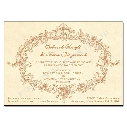 Vintage Wedding Invitations From Party Invitations UK