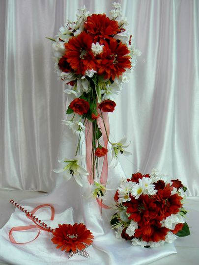 Red and Cream Bridal Package