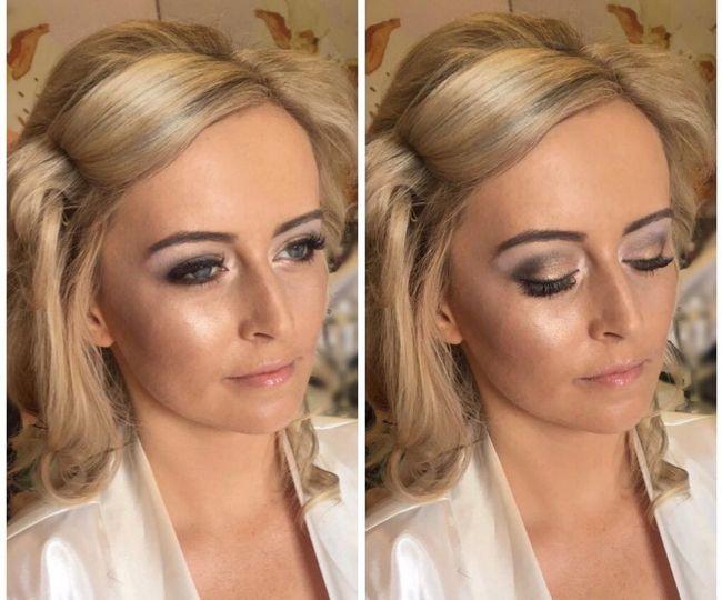 Bridal makeup at Rowton Castle