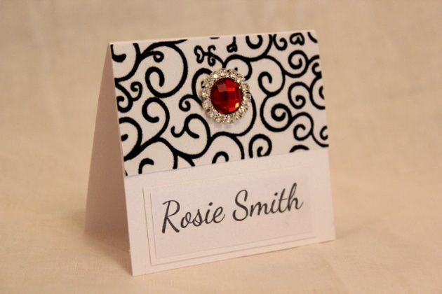 Ruby swirl place card