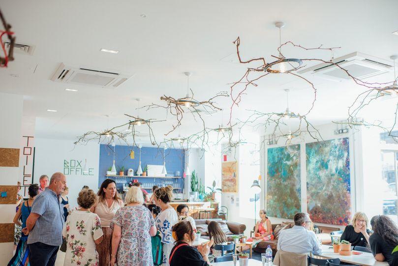 Wedding in Bar/cafe area