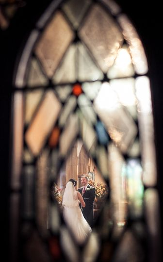 Sneaky wedding ceremony shot