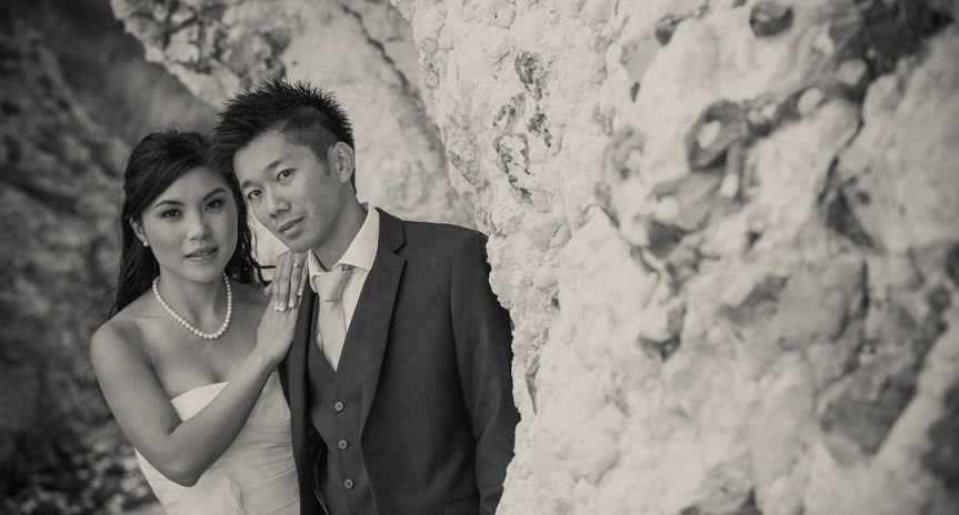 White cliffs wedding photo