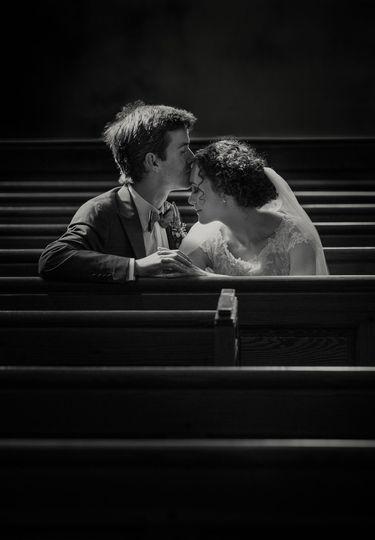 Quiet moment in church
