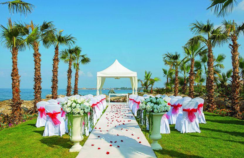 Beachside wedding ceremony