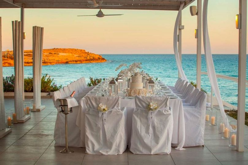 Dinner overlooking the sea