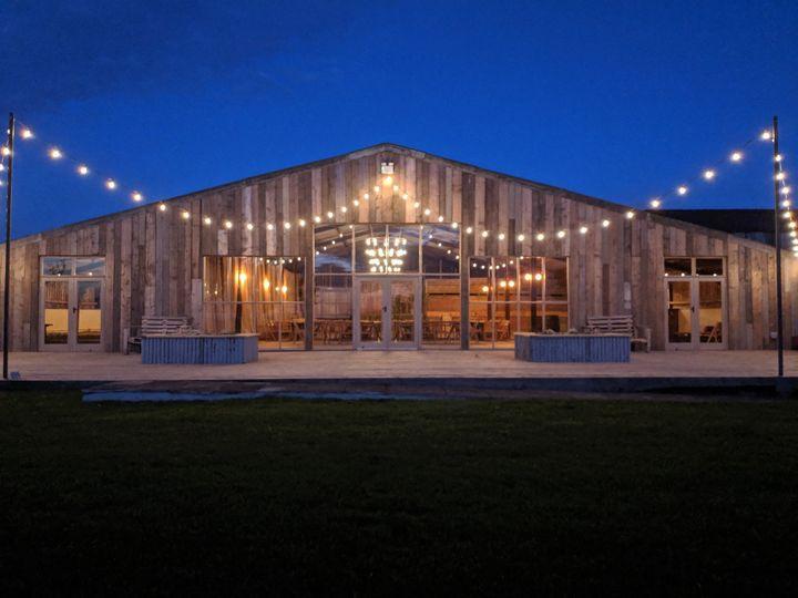 Grange Barn At Dusk