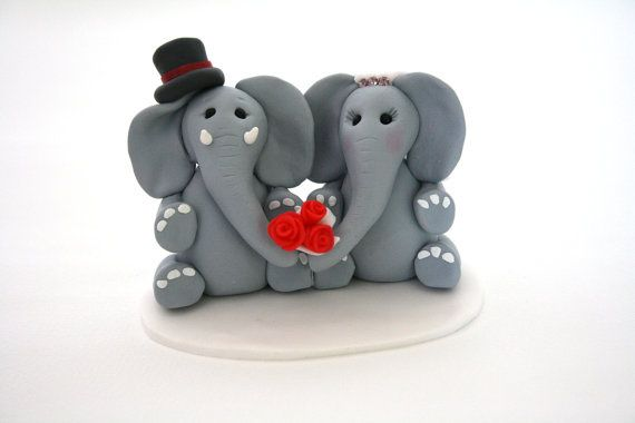 Wedding topper - elephants