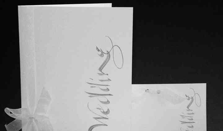 Contemporary Calligraphy in Grey
