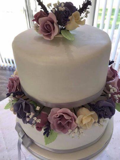 Roses, lavender & gypsophila
