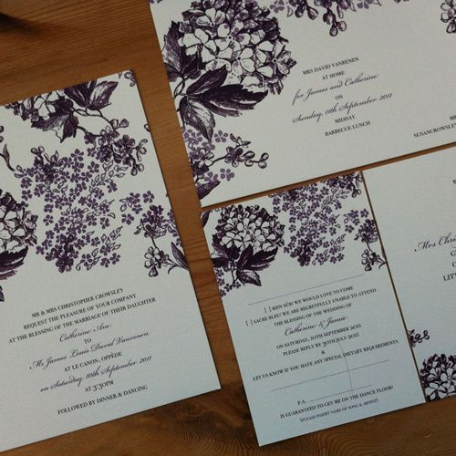 Blooms wedding invitation