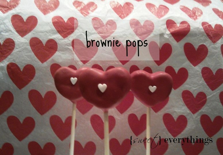 Heart brownie pops