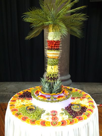 Fruit display and fruit palm t