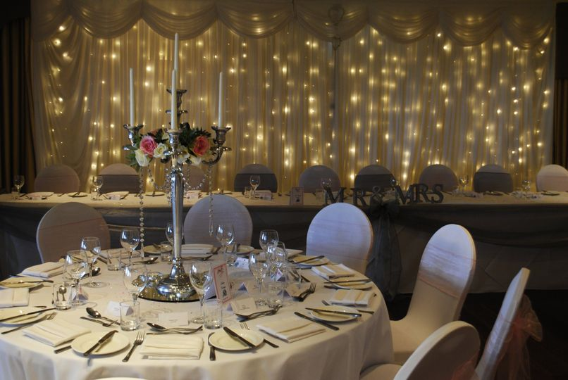 Backdrop & Candelabra