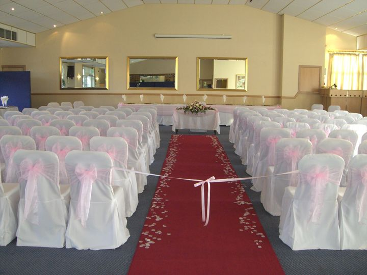 Chair covers and aisle decor