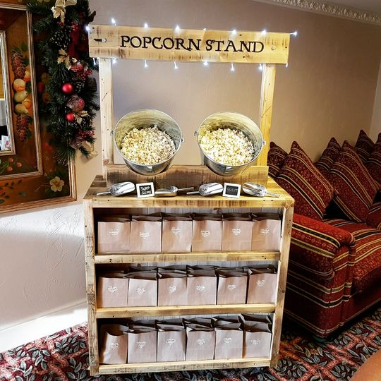 Rustic Popcorn stand