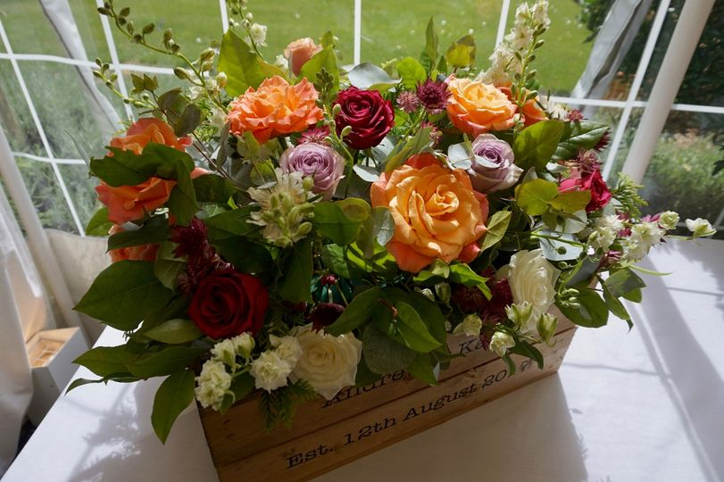 Crate of blooms