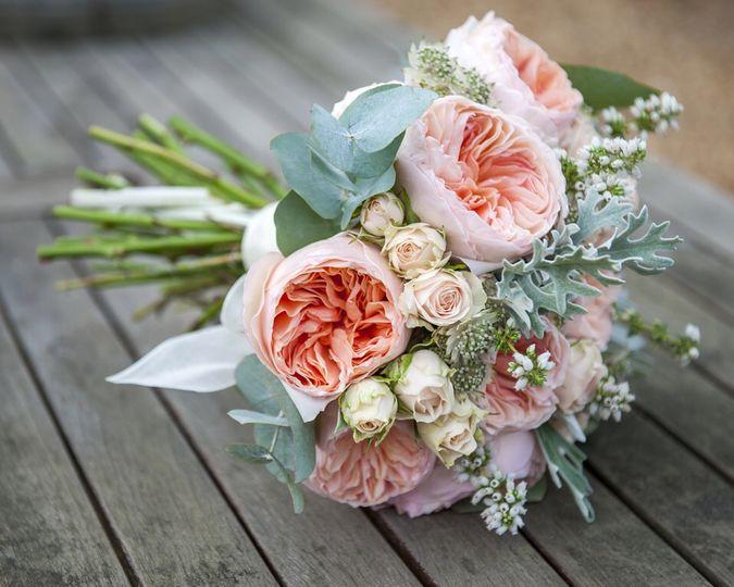 David Austin roses bridal