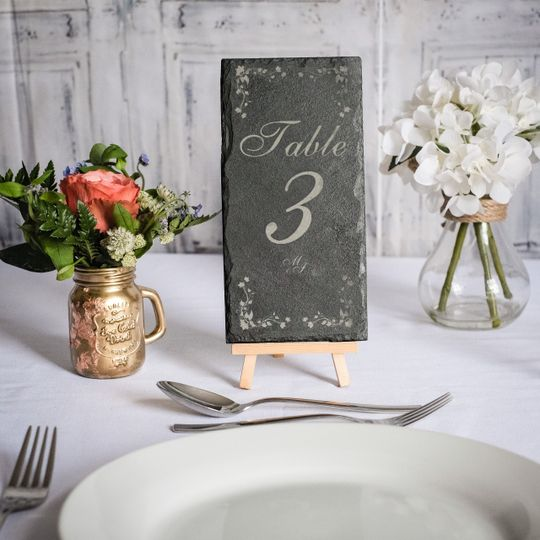 Laser Engraved Table Number