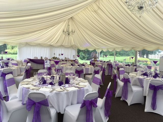 White and purple wedding