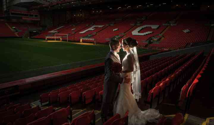 Bride and Groom Pitchside