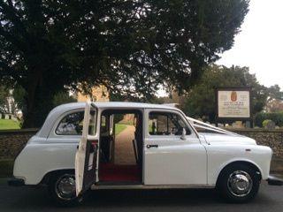 Wedding white taxi
