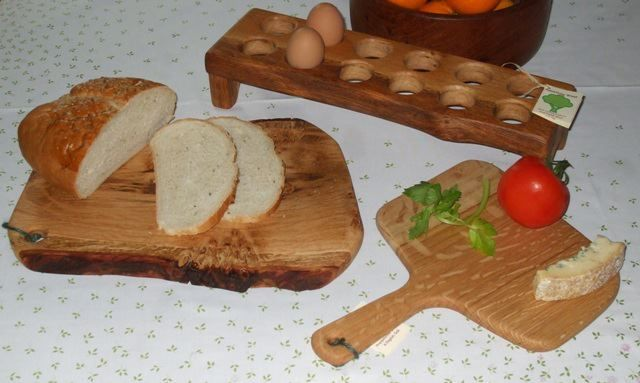Bread and cheese boards, egg racks