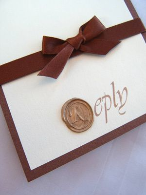 Wax Sealed Reply Card