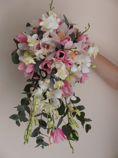 Orchid shower bouquet