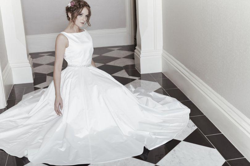 Duchesse satin wedding dress