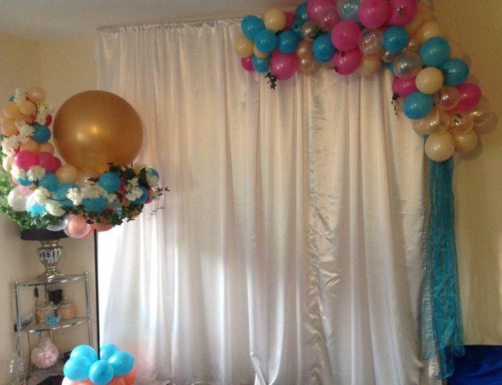 Backdrop with balloon column a