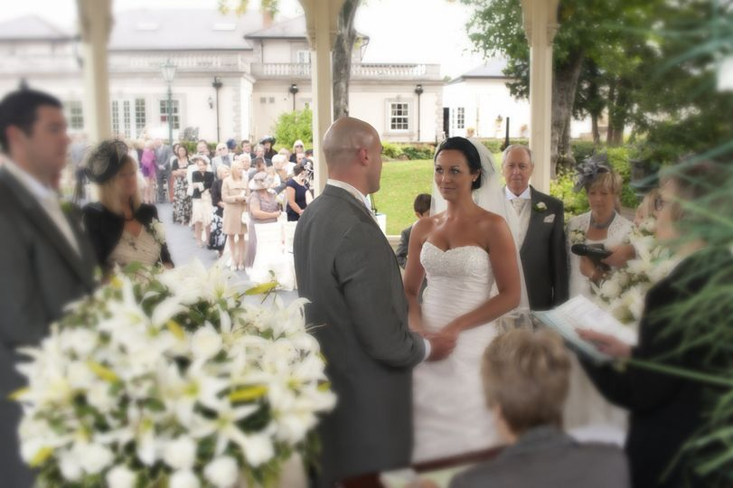 Ceremony in the band stand