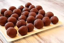 Piña colada truffles