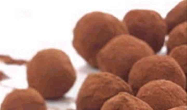 Chocolate butterscotch truffle