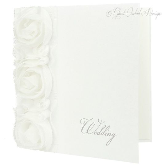 Corsage wedding invitation
