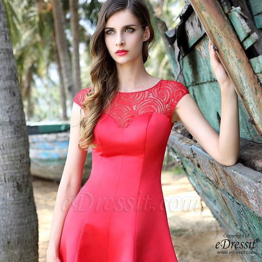 57c6a46be286 Red short little dress from eDressit