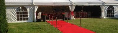 Marquee with red carpet front