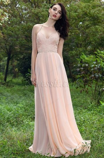 cc3e2ec4759a Beaded straps prom gown from eDressit