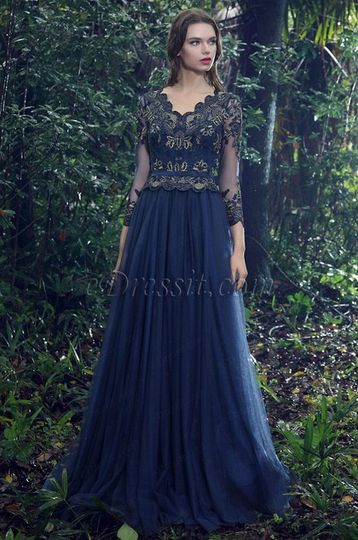 3eda8b8cacf2 eDressit V-cut Blue Prom Dress