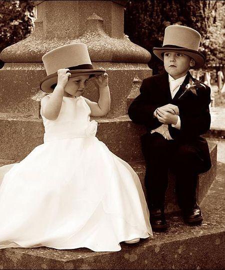 Children at a wedding