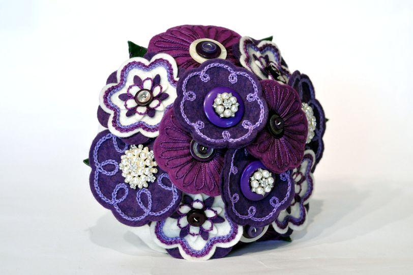 Purple and cream plus pearls