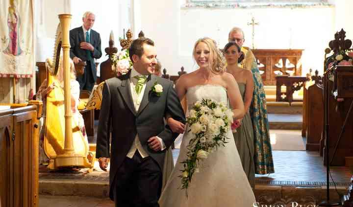 Wiveton church wedding