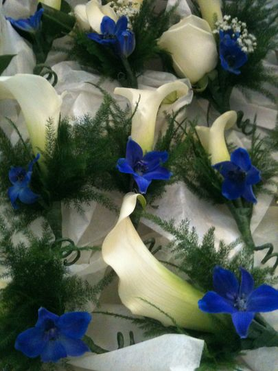 A selection of buttonholes