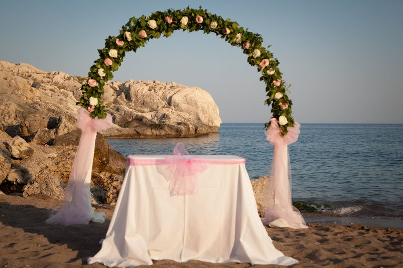 Rhodes Beach Ceremony Venue