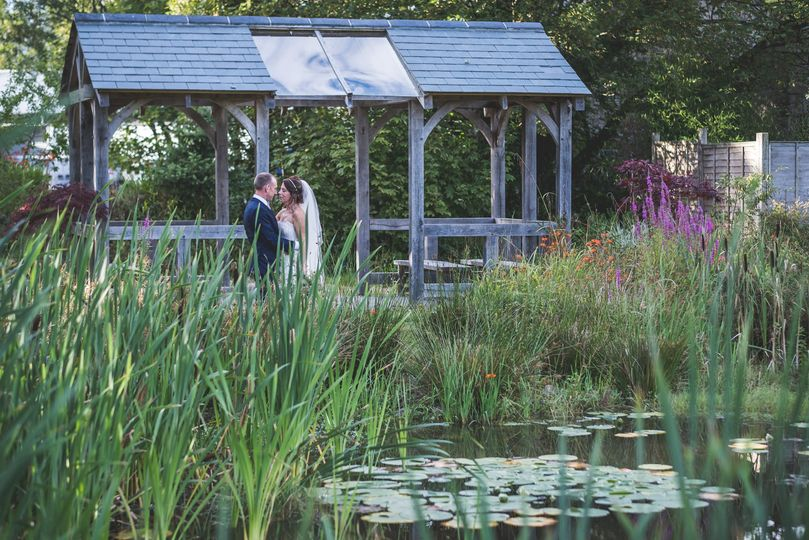 Pond and Arbour